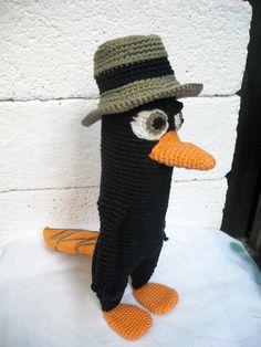 Black Perry Alias Agent P. eigen patroon gemaakt door Yvonne van Gompel