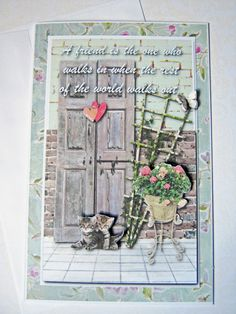 Friendship Card Friend quote Vintage style card by littledebskis