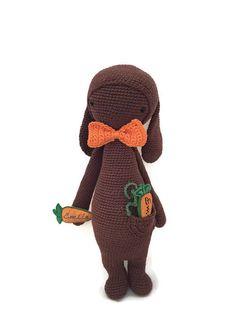 Bunny inspired by Lalylala / Crochet Doll / Handmade Amigurumi / Amigurumi animal/doll von WoolersPL auf Etsy Crochet Dolls, Crochet Hats, Crochet Designs, Bunny, Beanie, Etsy, Inspired, Vintage, Trending Outfits