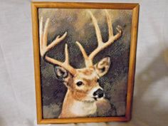 BEAUTIFUL HANDCRAFTED  FRAMED MAJESTIC DEER/ NATURE AT IT'S BEST