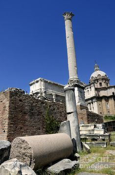 Column Of Phocas And Septimius Severus Arch - The Roman Forum, Rome