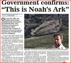 Saw this DVD on the discovery of Noah's Ark. Remarkable. A must see! Click on link to Noah's Ark Museum - EXCITING: http://www.arkdiscovery.com/noah's_ark.htm