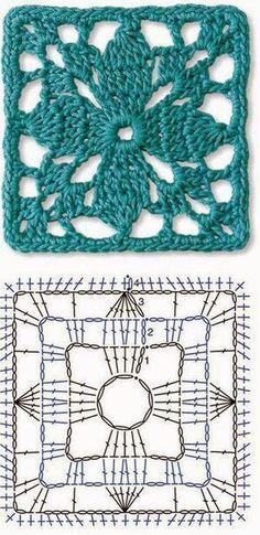 Seis Lindos Quadradinhos para Vocês! (Tecendo Artes em Crochet)