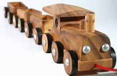 Wooden Toy Train  Christmas Gift by siamcollection on Etsy, $21.00