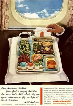 I remember meals like this on Pan Am when we traveled overseas..and today we're lucky if we get peanuts....