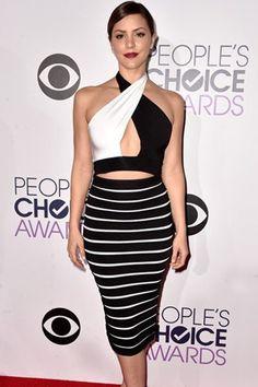 Black White Celebrity Bandage Skirt Set