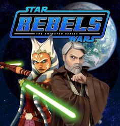 Now I know this is a fan made poster and that it's highly unlikely that Ahsoka and Obi-Wan will be in Rebels, but I do love this :)