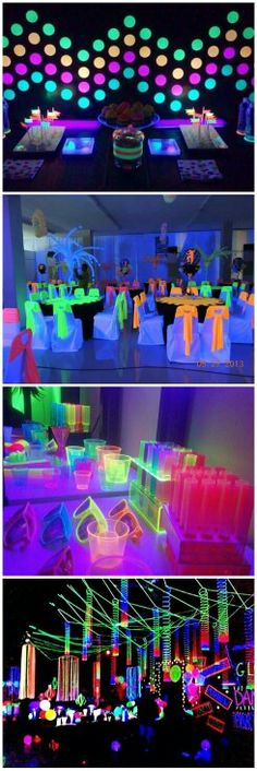 Neon birthday party for teens Ideas for 2020 Neon Birthday, 13th Birthday Parties, Birthday Party For Teens, Sleepover Party, Birthday Party Themes, Glow In Dark Party, Glow Party, Disco Party, Party Decoration