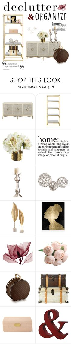 """""""declutter"""" by lvforever ❤ liked on Polyvore featuring interior, interiors, interior design, home, home decor, interior decorating, Worlds Away, WALL, Global Views and Oliver Gal Artist Co."""