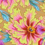 Philip Jacobs Fabric, Iris & Peony Green (per 1/4 metre)