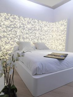 1000 images about materiales on pinterest solid surface dupont corian and cement floors - Backlit headboard ...