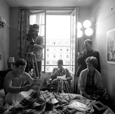 On the set of A Bout de Souffle (Jean-Luc Godard, 1960)