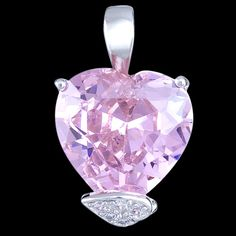lovely heart pendant, the stone reminds me a diamond :) (in set together with earrings and ring) $173.62