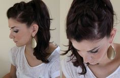 10 Creative Ways to Wear a Ponytail--this girl does cute, fast hairstyles and tips.