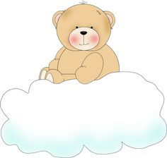 Bear On Clouds Clip Art