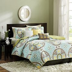 Madison Park Bali 6-pc. Quilt Set - This would be a nice summertime set.  Light weight but pretty and I think it would be a nice compliment to our sage colored bedroom.
