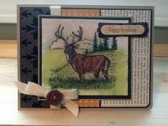 Noble deer birthday by wendle - Cards and Paper Crafts at Splitcoaststampers