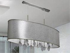 Electricidad Aranda. Lamparas e iluminación en Almería Colgante pantalla con doble portalámparas e27 y cristal, regulable en altura, ideal sobre una mesa de comedor de un salón, consúltanos combinaciones posibles