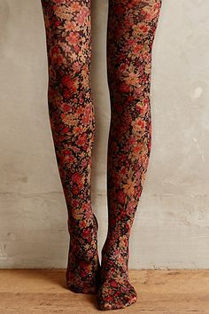 Anthropologie EU Ditsy Tights