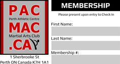 Creation of a Membership Card which would get filled in and laminated after purchase