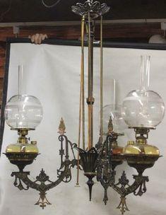 Victorian Lighting, Antique Lighting, Hanging Lamps, Hanging Lights, Antique Oil Lamps, Fan Decoration, Kerosene Lamp, Light Fittings, Palaces