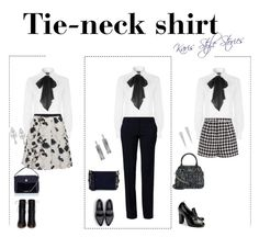 """""""How To Wear: Tie-neck shirt. Trendy!"""" by stylekaris ❤ liked on Polyvore featuring Polo Ralph Lauren, Benetton, Wrapped In Love, Weekend Max Mara, Emma Cook, Gianvito Rossi, Zara, Chanel, Kate Spade and Monsoon"""