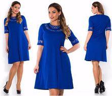 Women Summer 6XL Dress Vestidos Plus Size 5xl 6xl Clothing Sexy O-neck Lace Dresses Women Office Elegent Clothes