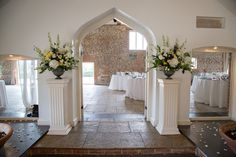 Ceremony room at Farbridge Barns www.rose-cottage-flowers.co.uk Our Wedding, Wedding Venues, Wedding Ideas, Ceremony Decorations, Table Decorations, Rose Cottage, Barns, Wedding Flowers, Bouquet