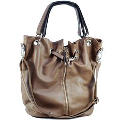 New Brown Dasein Hobo Bag With Zipper Decoration