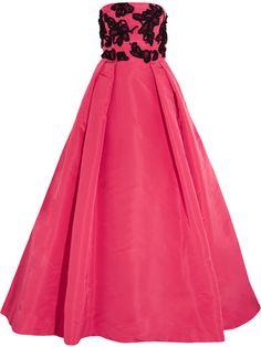 Shop for Embellished Silk-taffeta Gown - Pink by Oscar de la Renta at ShopStyle. Pink Evening Gowns, Pink Gowns, Embellished Gown, Silk Taffeta, Embroidery Dress, Embroidered Dresses, Silk Dress, Blazer, Pleated Dresses