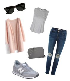 """""""Untitled #24"""" by soukupova-t on Polyvore featuring Frame Denim, Chicwish, New Balance, Topshop, Ray-Ban, women's clothing, women's fashion, women, female and woman"""