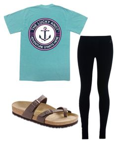 """""""simple outfit"""" by hollere on Polyvore featuring NIKE and Birkenstock"""