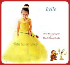 Handmade Belle Inspired Tutu Dress Costume http://www.tutusweetshop.com/item_863/Handmade-Belle-Inspired-Tutu-Dress-Costume.htm