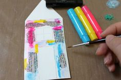 Mixed Media House using Gelato® - Faber-Castell Design Memory Craft