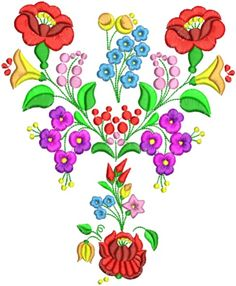 Kalocsai hímzésminta 316 Chain Stitch Embroidery, Learn Embroidery, Embroidery Stitches, Embroidery Patterns, Hand Embroidery, Stitch Patterns, Stitch Head, Easter Egg Designs, Hungarian Embroidery