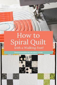 Quilting Stitch Patterns, Quilt Stitching, Quilting Tips, Quilting Tutorials, Quilt Patterns, Top Stitching, Quilting Projects, Sewing Projects, Machine Quilting Tutorial