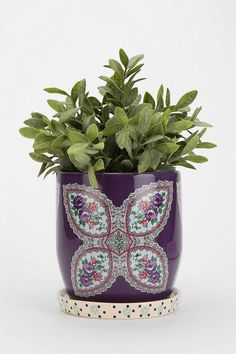 Plum & Bow Floral Pattern Planter #urbanoutfitters