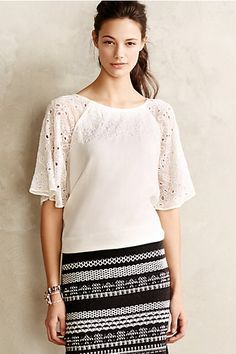Snowbell Blouse - pretty sleeve details