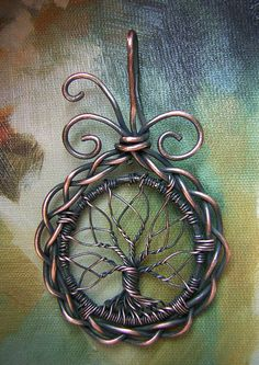 Celtic Tree of Life Wire Wrapped Pendant Jewelry - RachaelsWireGarden Wire Pendant, Wire Wrapped Pendant, Wire Wrapped Jewelry, Metal Jewelry, Pendant Jewelry, Silver Jewellery, Pendant Necklace, Bijoux Wire Wrap, Bijoux Diy