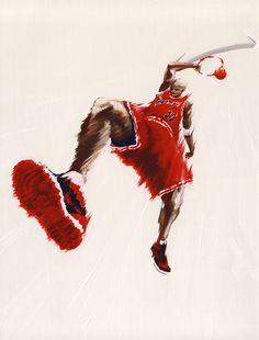 Basketball Painting : SLAM4 -1985AJ-