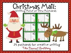 """A student can write a postcard from one """"character"""" to another from the character's point of view. Great for creative writing lessons, center activities, etc. I usually add various requirements to incorporate other parts of the curriculum as well. Ideas might be using vocabulary or spelling words, comma rules, similes, metaphors, idioms, alliteration, four types of sentences, etc. Students always enjoy designing the stamps, making up the addresses, and adding extra decorations! $4.25"""