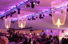 La Lumiere | Fairy Lights |Grand chands for a marquee