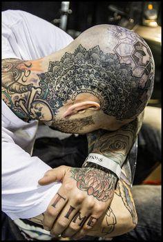 Ink your body Face Tattoos, Body Art Tattoos, Tribal Tattoos, Geometric Tattoos, Tatoos, Future Tattoos, Tattoos For Guys, Worldwide Tattoo, Scalp Tattoo