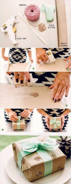 7 geschenkverpackung verpackung basteln braue schleife