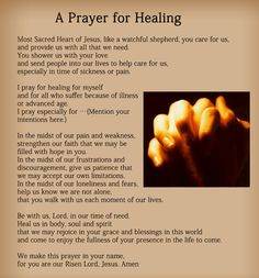 Prayer for Healing Quotes   Prayer For Healing The Sick The prayer for healing