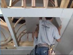 ▶ How to Drywall a Barrel Vault Ceiling - Archways & Ceilings Made Easy - YouTube
