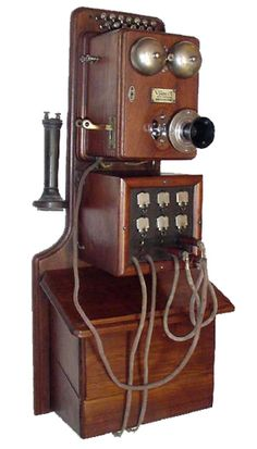 Model: wall switchboard phone Made by: Viaduct Manufacturing Co. From: 1890s Courtesy of: Tom Adams This Viaduct wall switchboard looks to have six 'drops' (the silver plates on the lower box), meaning it had a six line switching capacity. The Viaduct Manufacturing Company was based in Elk Ridge, Maryland, and the company name came from the brick viaduct that had to be built next to the company's plant to support the B railroad tracks.