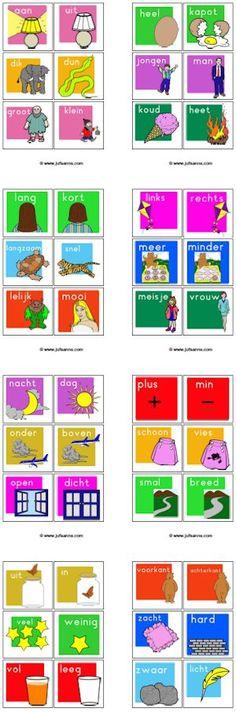 Juf Sanne en Meester Tim: losse begrippenkaartjes met spelideeën
