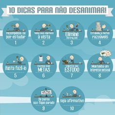 10 Dicas para Não Desanimar... Web Design, Study Hard, Success, Med School, Study Inspiration, Always Learning, Studyblr, Study Notes, Student Life