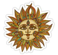 """Hippie Sun"" Stickers by dgeoffrion | Redbubble"